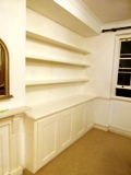 Hammersmith fitted made to measure floating shelves